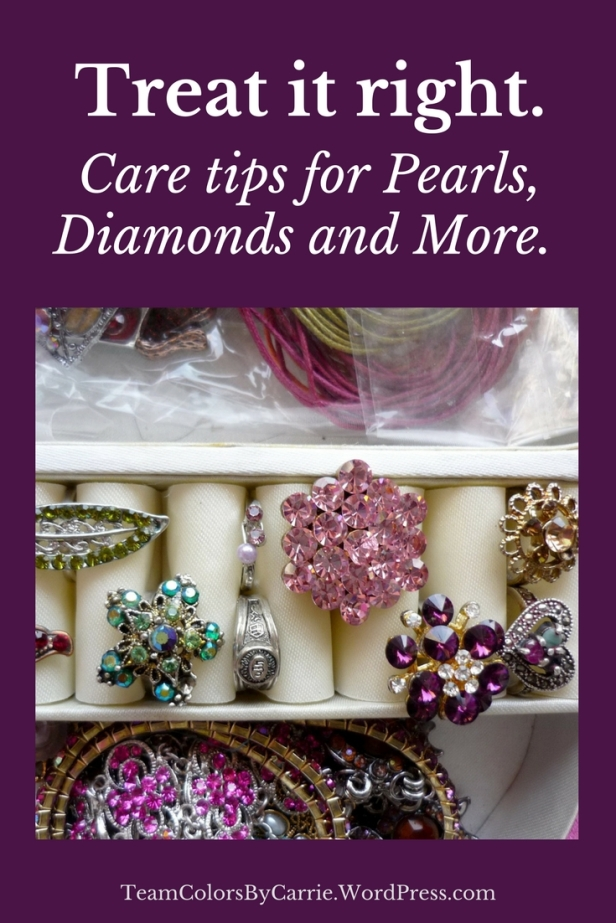 Care tips for pearls, diamonds and more