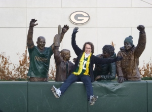 Yes, I did the Lambeau Leap!