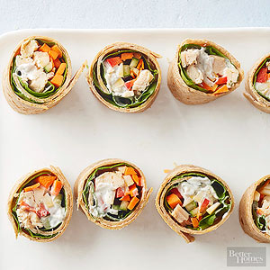 med chicken wraps