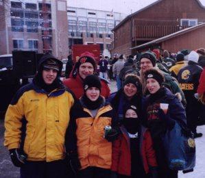 2001-Dec Posing in front of Lambeau