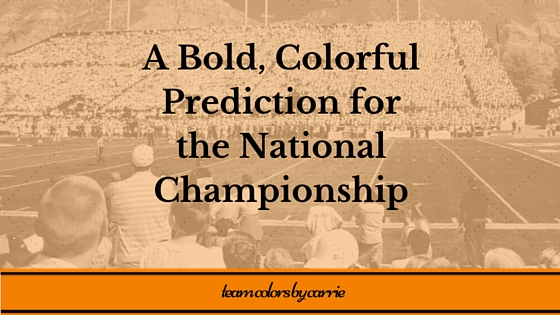 Blog Title - National Championship Prediction