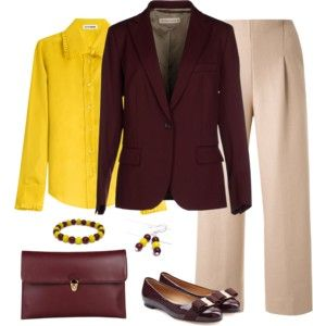 Wine and Gold - Work Wear 1