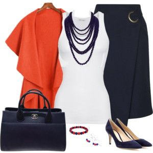 Navy Blue and Orange 2