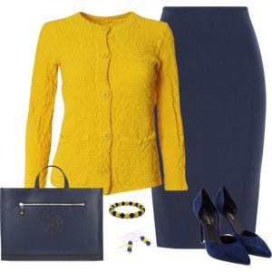 Navy Blue and Gold