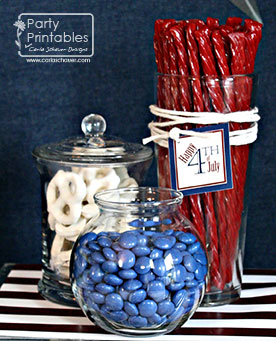 Red White and Blue Snack Jars