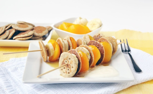 Buckwheat Blini Breakfast Kebabs