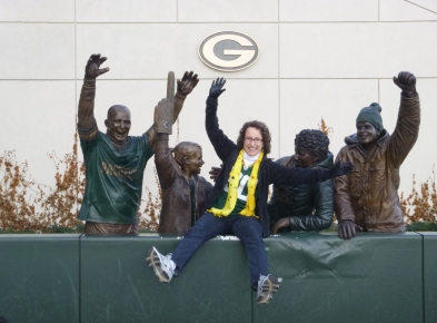 Me doing the Lambeau Leap - December 2014