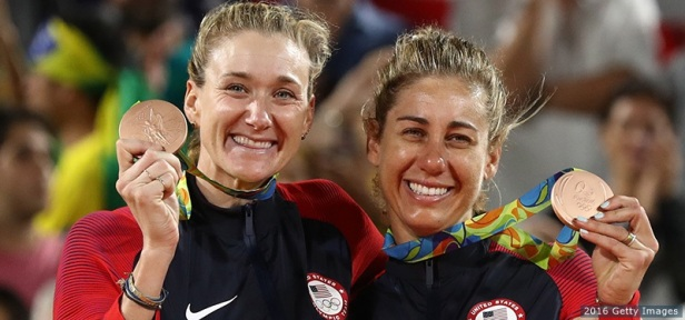 Kerri Walsh Jennings and April Ross