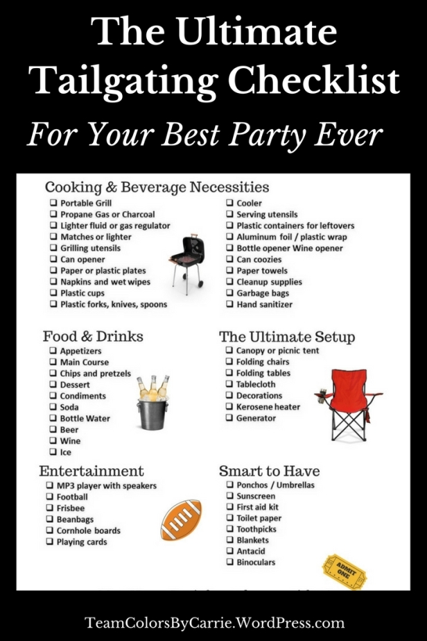 The Ultimate Tailgating Checklist For Your Best Party Ever (2)