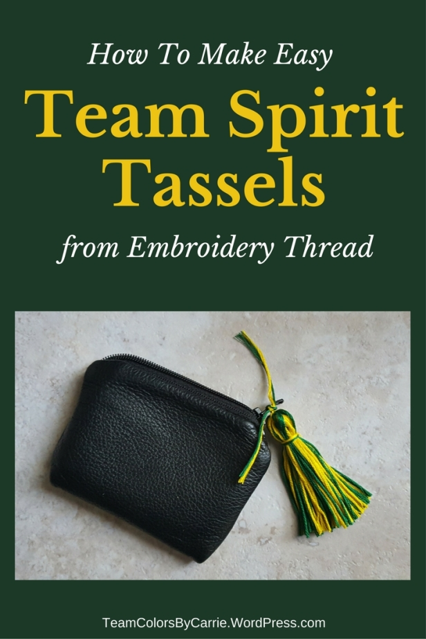 How to make easy team spirit tassels from embroidery thread