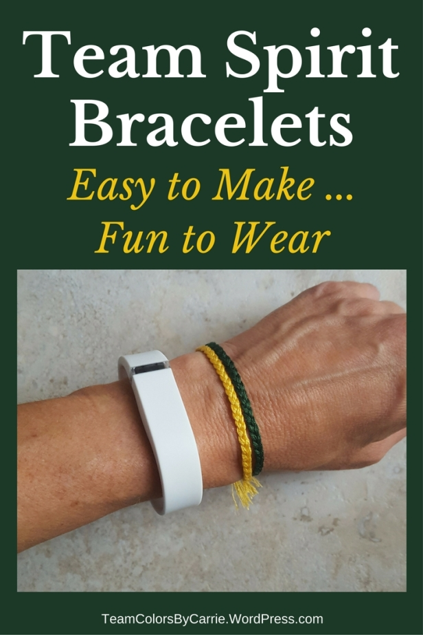 Team Spirit Bracelets are are easy to make and fun to wear