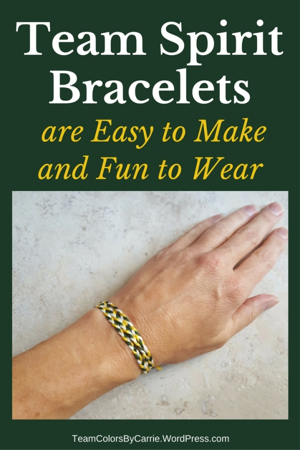 Team spirit bracelets are easy to make and run to wear