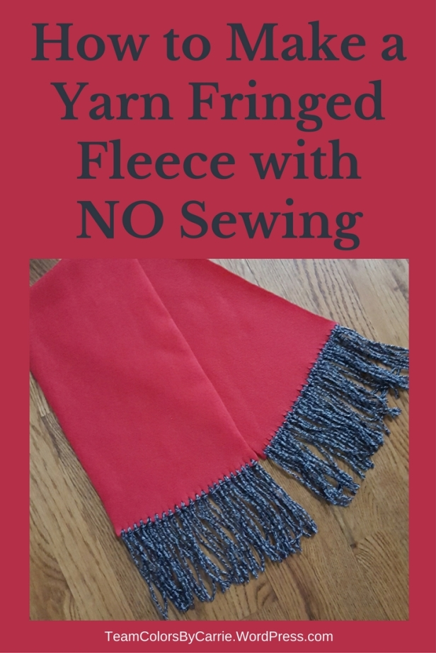 How to Make a Yarn Fringed Fleece Scarf with NO Sewing – Team Colors ...