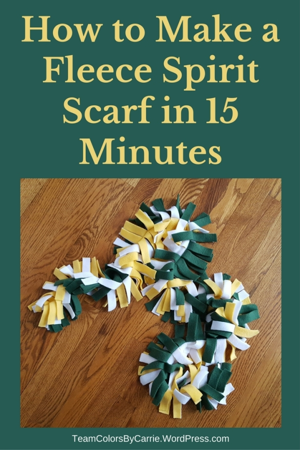 How to Make a Fleece Spirit Scarf in 15 Minutes