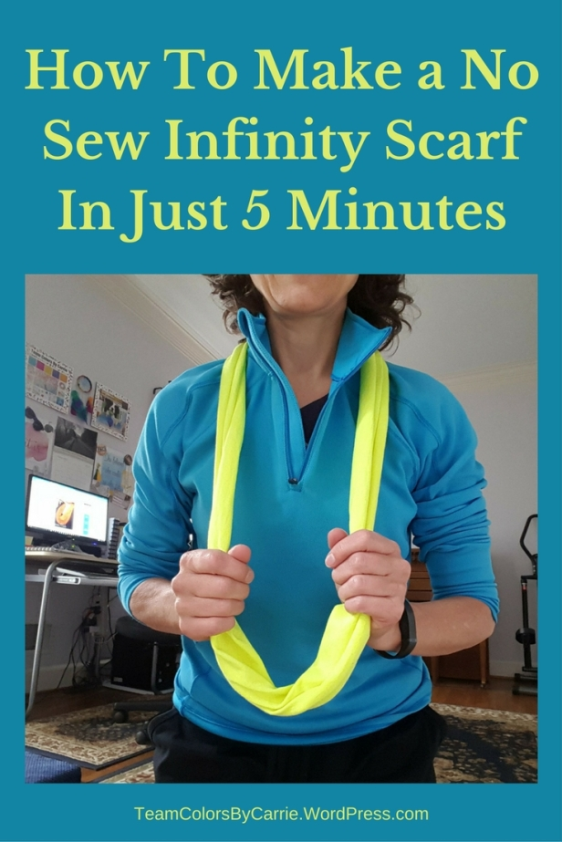 How To Make a No Sew Infinity Scarf In Just 5 Minutes