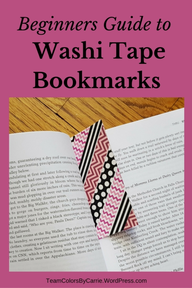 Beginners Guide to Washi Tape Bookmarks