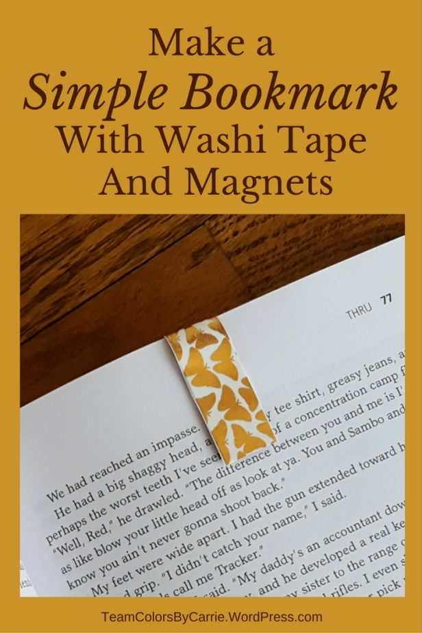 Make A Simple Bookmark With Washi Tape And Magnets