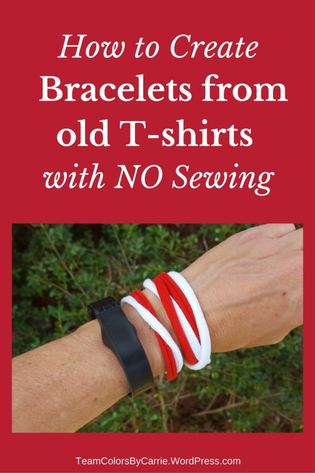 How to Create Bracelets from T-shirts with NO sewing