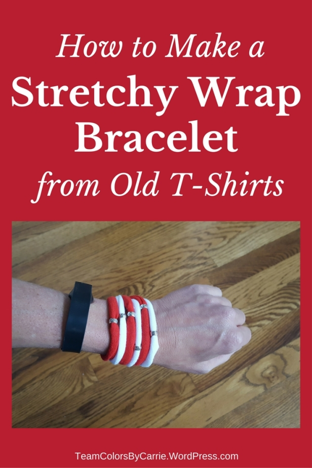 How to Make a Stretchy Wrap Bracelet from Old T-Shirts