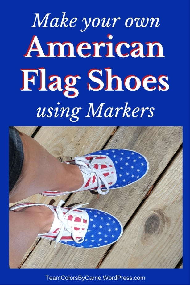 How to make your own American Flag Shoes using Markers