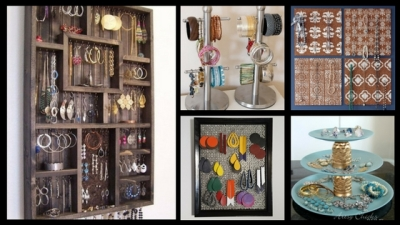Jewelry display and organization DIY