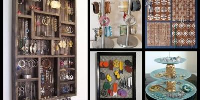 Jewelry display and organization DIY