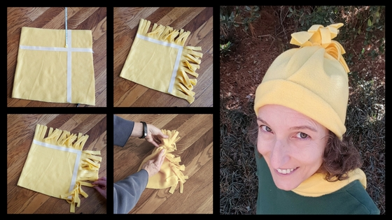 96c6338d329 How To Make An Easy No Sew Fleece Hat With Pom Pom – Team Colors By ...