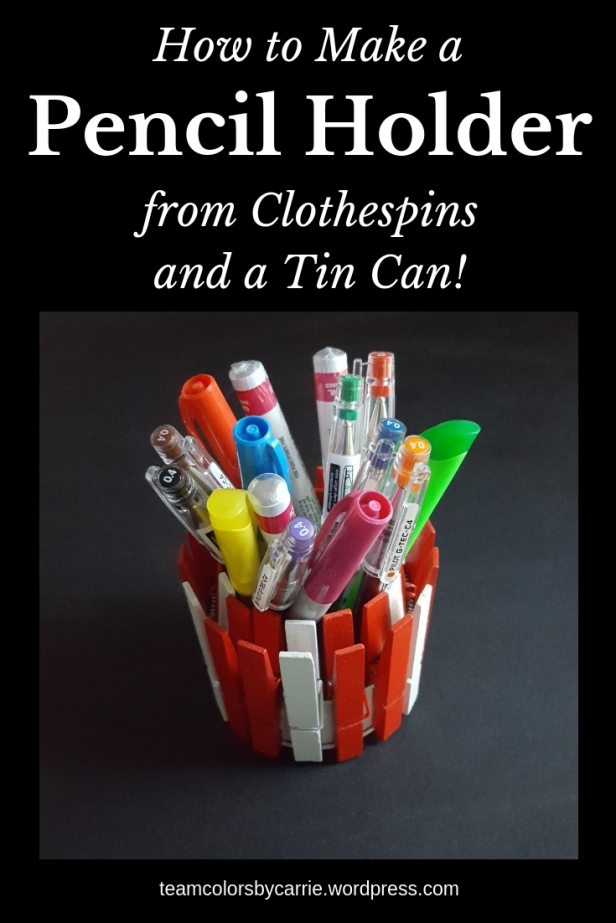 How to Make a Pencil Holder Out of Clothespins and a Tin Can (1)