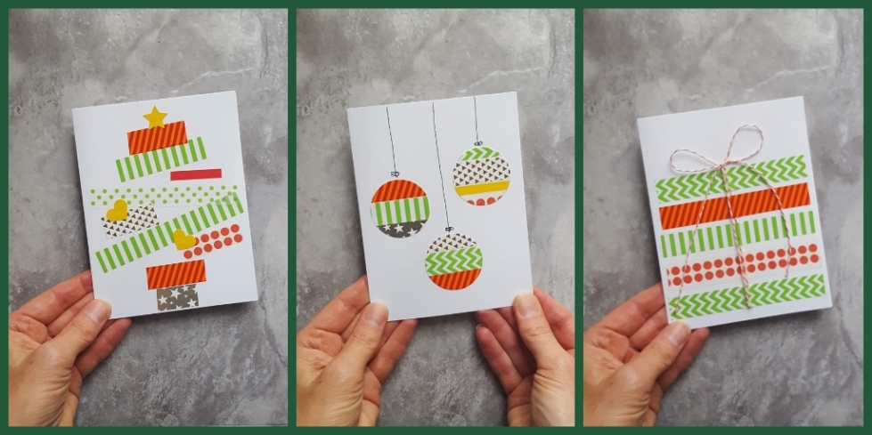 Handmade Washi Tape Christmas Cards