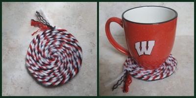 Handmade Coasters from Yarn and Felt