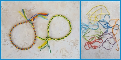 Craft embroidery floss used to make beaded friendship bracelets